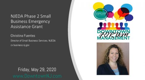 Downtown Management Forum Recap: NJEDA Phase 2 Small Business Emergency Assistance Grants